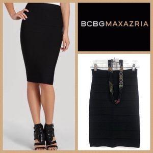 BCBG Max Mara High Waist Bandage Pencil Skirt